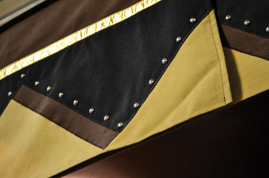 Black & Gold Rivets