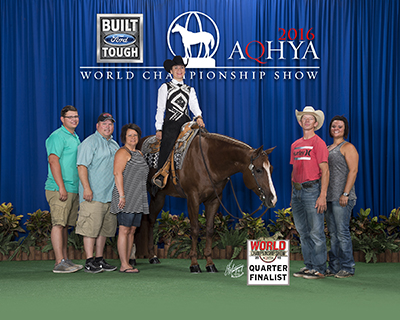 Sydney Riden and Raging To Zip at the AQHYA World Show.