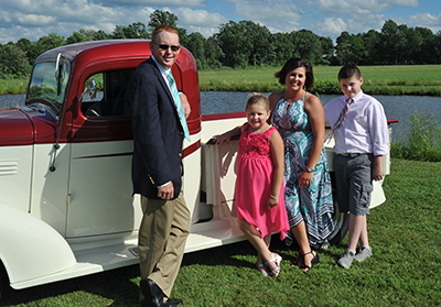 Randy Mitchell with wife, Darcy; son, Cole; and daughter, Allison.